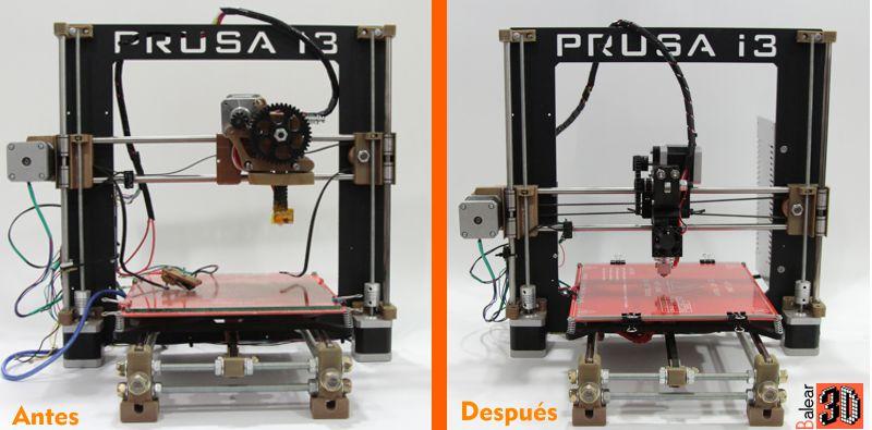 impresora 3D antes despues